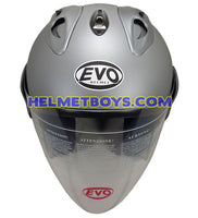 EVO RS 959 MATT GREY motorcycle helmet front view