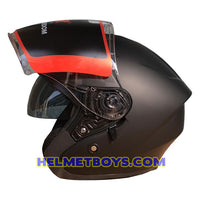 LAZER JH5 motorcycle helmet sunvisor side view