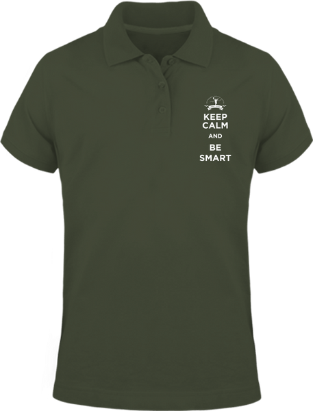 Keep calm and be smart - Polo manches courtes