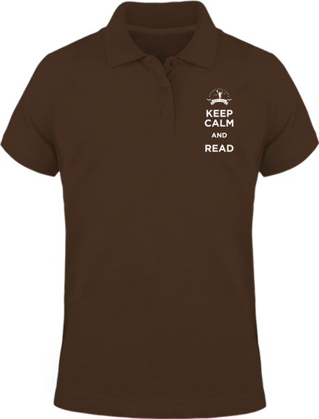 Keep calm and read -Polo manches courtes