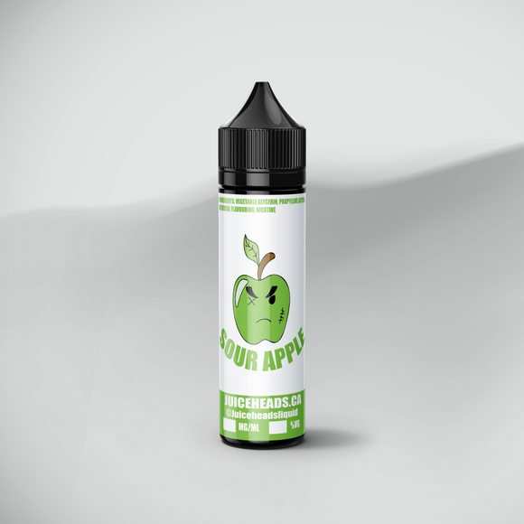 sour apple flavored e-juice 60ml bottle