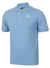 Kappa Mens Omini Sky Blue Pure Pique Cotton Sports Polo Shirt