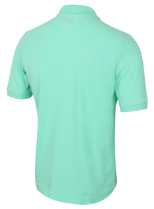 Kappa Mens Omini Green Pure Pique Cotton Sports Polo Shirt