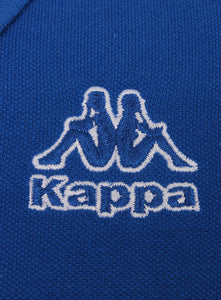Kappa Mens Omini Blue Pure Pique Cotton Sports Polo Shirt