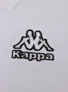 Kappa Mens Omini White Pure Pique Cotton Sports Polo Shirt