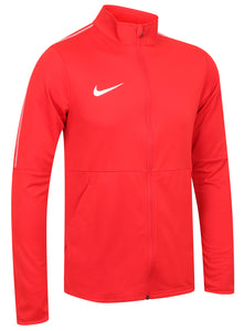 Nike Mens Dry Park 18 Dri-Fit Full Zip Track Jacket - AA2059-657 - Red Front