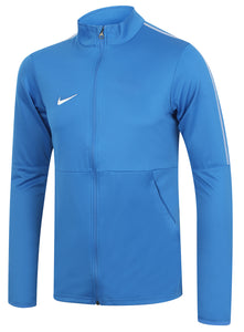 Nike Mens Dry Park 18 Dri-Fit Full Zip Track Jacket - AA2059-463 - Blue Front Left