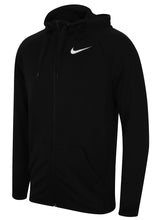 Nike Men's Dry Black Training Dri-Fit Fleece Full Zip Hoodie