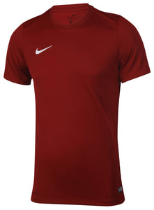 Nike Mens Dri-Fit Swoosh Burgundy Wicking T-Shirt