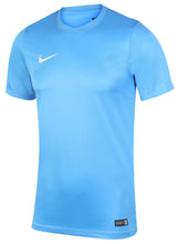 Nike Mens Dri-Fit Swoosh Sky Blue Wicking T-Shirt