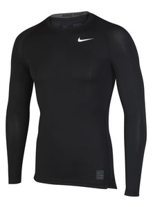 Nike Men's Pro Cool Black DriFit Compression Long Sleeve Training Top
