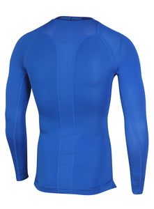 Nike Men's Pro Cool Blue DriFit Compression Long Sleeve Training Top