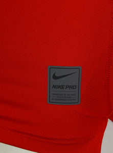 Nike Men's Pro Cool Red DriFit Compression Long Sleeve Training Top