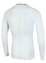 Nike Men's Pro Cool White DriFit Compression Long Sleeve Training Top