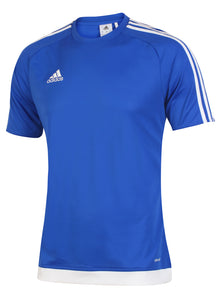 adidas Men's Estro 15 Blue climalite Crew Training T-Shirt