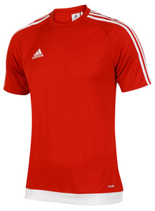 adidas Men's Estro 15 Red climalite Crew Training T-Shirt