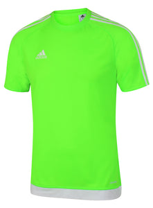 adidas Men's Estro 15 Green climalite Crew Training T-Shirt