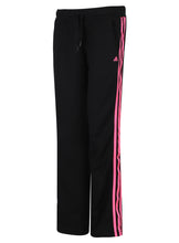 adidas Women's Sport 3S Black Open Hem Polyester Tracksuit Bottoms