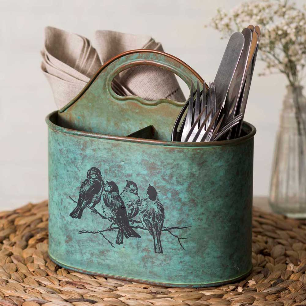 Rustic Metal Kitchen Caddy