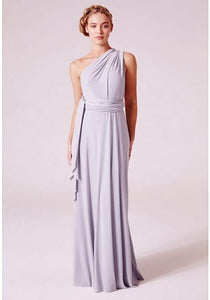 Alexis Multiway Maxi Dress In Dove Grey