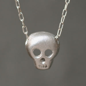 Skull Necklace in Sterling Silver