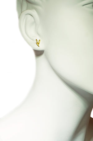 Mismatch Rice Climber Earrings in 18K Gold Plate