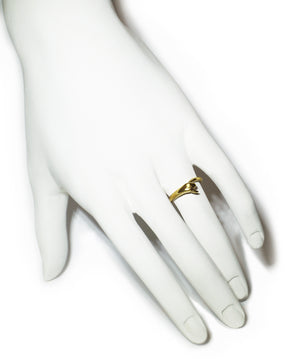 Snake Tail Ring in 18K Gold Plate with Red CZ