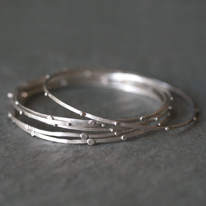 Stack Bangle in Sterling Silver