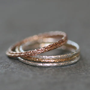 Thin Textured Ring