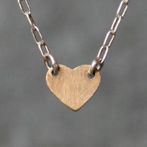 Baby Heart Necklace 14K Gold and Sterling Silver