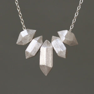5 Nugget Necklace in Sterling Silver