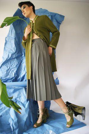 1940's Pleated Midi Skirt - ULTRA-CAT