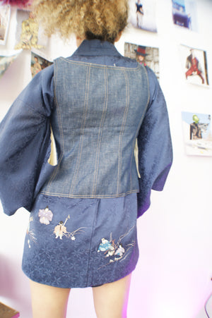 Y2k Denim Corset - ULTRA-CAT