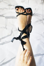 1990's Bow Leather Sandals - ULTRA-CAT