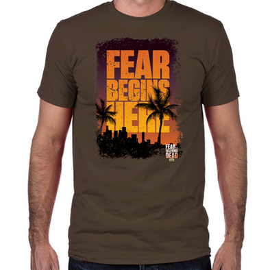 FTWD Fear Begins Here Fitted T-Shirt