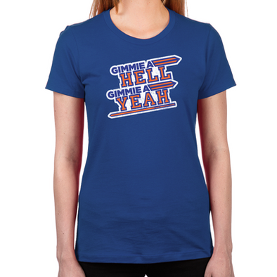 Blue Mountain State Hell Yeah Women's Fitted T-Shirt