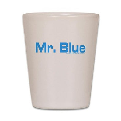 Mr. Blue Shot Glass
