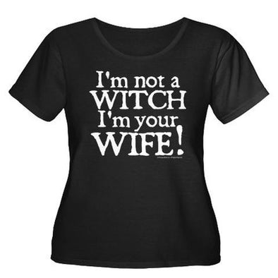 Witch Wife Women's Plus Size Scoop Neck T-Shirt
