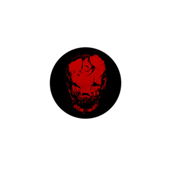 Bloodletting Mask Red Mini Button
