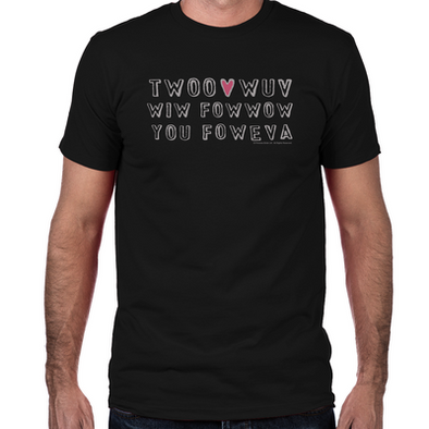 Twoo Wuv Fitted T-Shirt