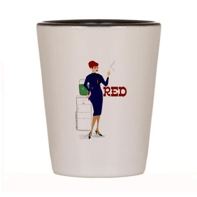Mad Men Red Shot Glass