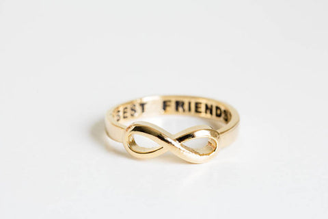 WOO LOO FASHION-Best Friend Infinity Ring