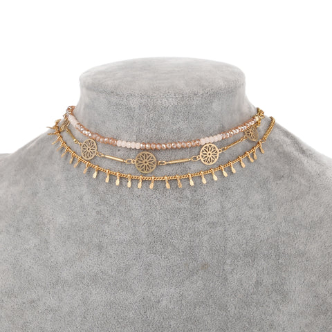 WOO LOO FASHION-Una Choker Set (2 Selections)