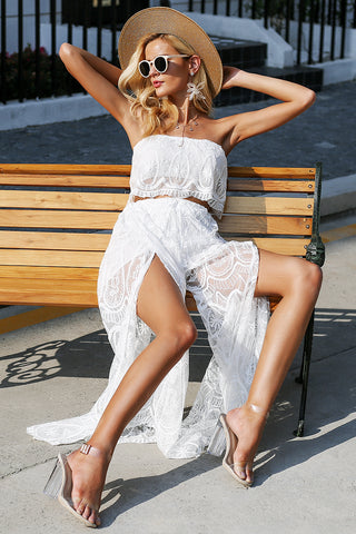 WOO LOO FASHION-Lace Two-piece Jumpsuit