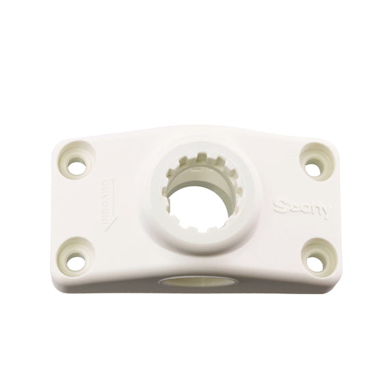 Scotty No. 241 White Combo Side/Deck Mount Base