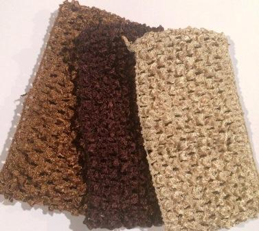Shades of Brown Ballerina Headbands