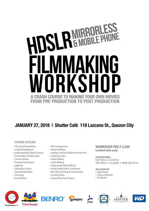 HDSLR Mirrorless & Mobile Phone Filmmaking Workshop