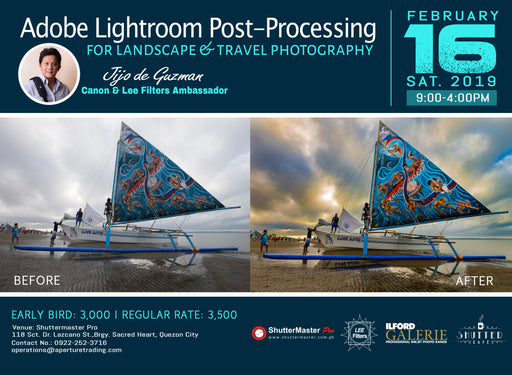 Adobe Lightroom Post-processing for Landscape and Travel Photography by Jijo De Guzman