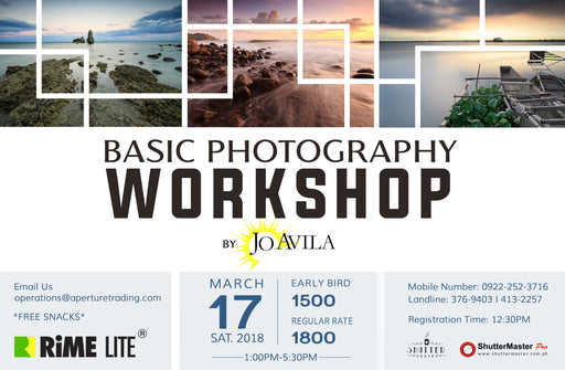Basic Photography Workshop by: Jo Avila