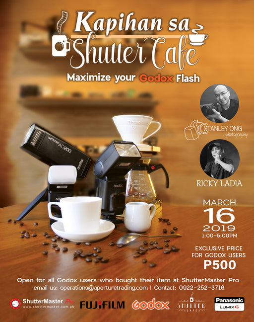"Kapihan sa Shutter Cafe ""Maximize your Godox Flash Seminar"" by Sir Stanley & Ricky Ladia"